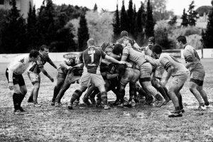 Foto Rugby wedstrijd