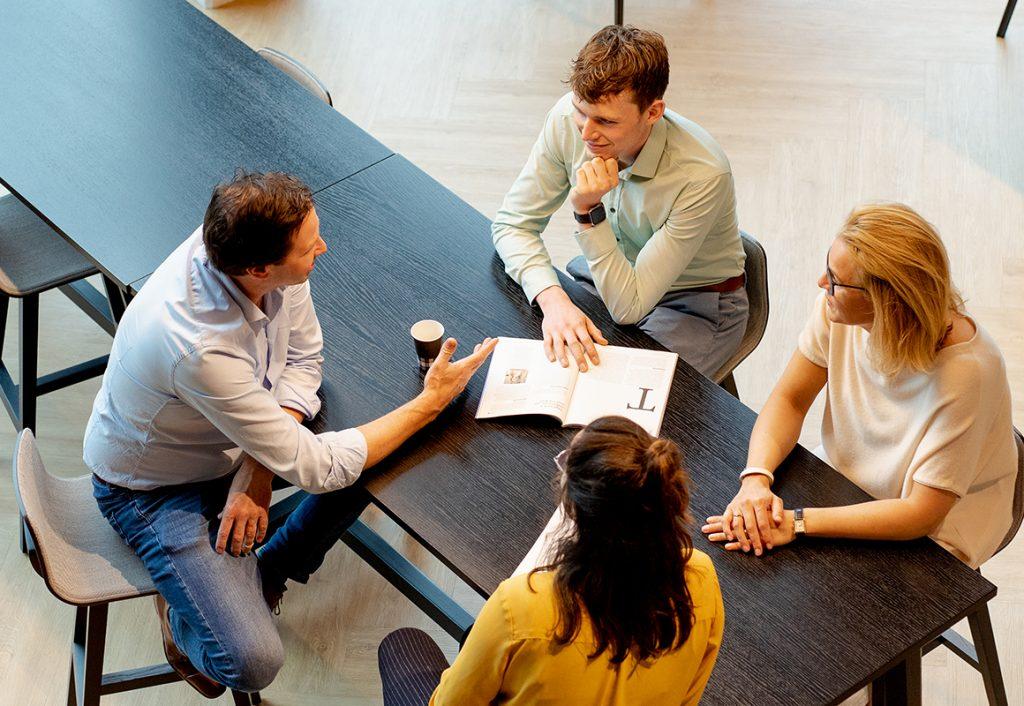 Vergaderingen tijdens het traineeship van P5COM